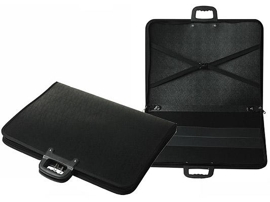 """Папка-портфель для художника,  """"А3+ """", пластик черный (560 х 410 мм..."""